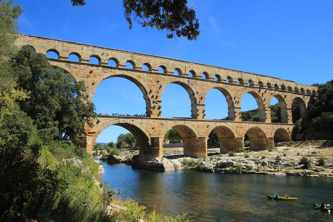 The Roman Aqueduct and plumbing system brought running water into the homes of private citizens